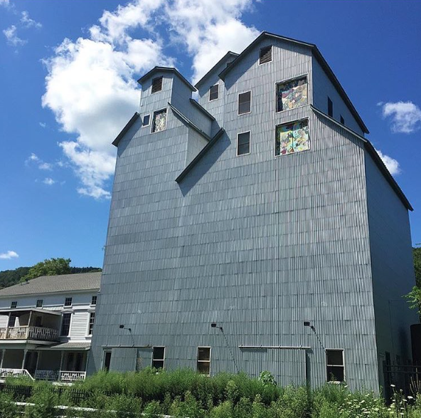 My work on the side of Maxon Mills, Wassaic, NY, 2016