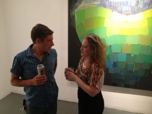 "Me and Polly at the opening of ""Future Folk: Part 1"" at Brooklyn Fire Proof, July 2013"